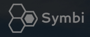 Symbi logo as hexes